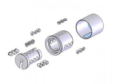 Die Schlösser werden mit 9 Codierungsstiften, die in drei Achsen spiralförmig angeordnet sind, ausgeführt. Es handelt sich um eine digitale und programmierbare Codierung nach dem System Codkey oder Locksys.